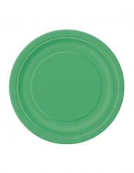 Platos verde esmeralda