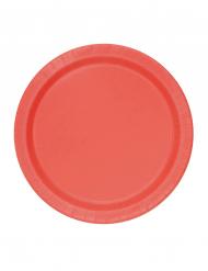 Platos pequeños rojos