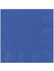 20 Servilletas de papel azules 33 x 33 cm