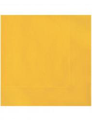 20 Servilletas papel amarillo 33x33 cm