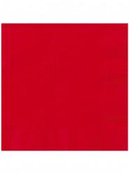 20 Servilletas de papel rojo 33x33 cm