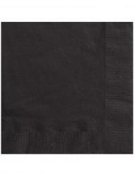50 servilletas negras
