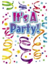 8 Tarjetas de invitación fiesta