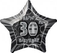 Globo estrella gris edad 30 años