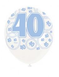 Globos azules edad 40 años