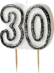 Vela 30 años gris