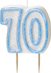 Vela edad 70 años azul