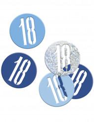 Confetis azul y gris edad 18 años