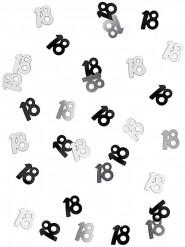 Confetis gris y negro 18 años