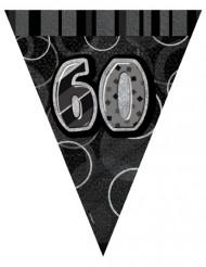 Guirnalda banderines grises edad 60 años