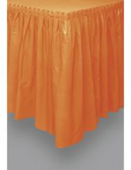 Falda de mesa naranja plástico