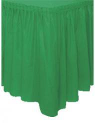 Falda de mesa verde esmeralda