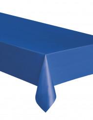 Mantel rectangular de plástico azul 137 x 274 cm