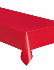 Mantel rectangular plástico rojo 137 x 274 cm