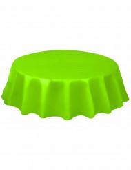 Mantel redondo de plástico verde lima