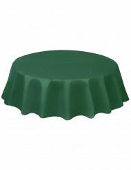 Mantel redondo verde oscuro