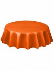 Mantel redondo naranja plástico