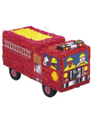 Piñata camión de bomberos