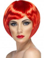 Peluca corta de color rojo