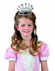 Diadema de princesa niña plata