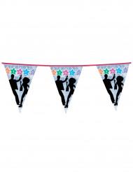 Guirlanda con banderines disco