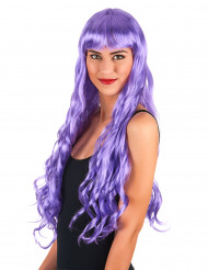 Peluca larga violeta