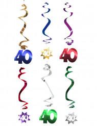 Decoración para colgar 40 años