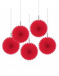 Decoración para colgar rosas rojas