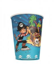6 vasos piratas 25 cl