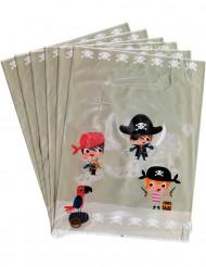 6 bolsas para de regalo Pirata