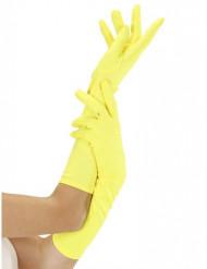 Guantes largos amarillo fluo