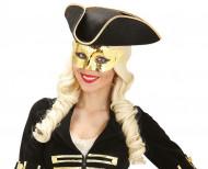 Máscara dorada metalizada