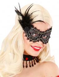Máscara negra y dorada