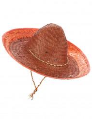 Sombrero mejicano naranja