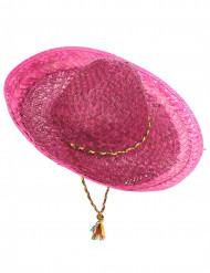 Sombrero mejicano rosa adulto