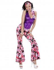 Disfraz de disco brillante mujer