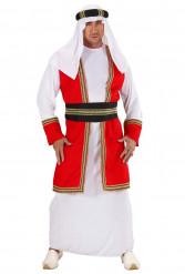 Disfraz de príncipe árabe rojo y blanco