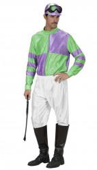 Disfraz de Jockey verde y violeta adulto