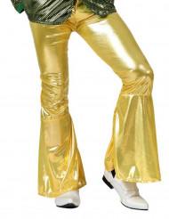 Pantalón disco dorado