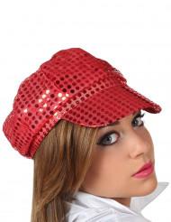 Gorra disco roja
