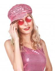 Gorra disco rosa