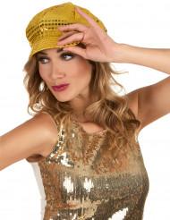 Gorra disco dorada