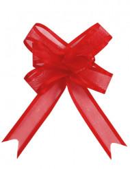 5 Mini lazos rojos organza
