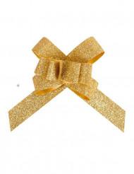 10 Lazos flower oro