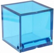 4 Cajas cúbicas color turquesa