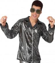 Chaqueta disco plateada