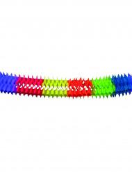 Guirlanda de papel multicolor 6 metros