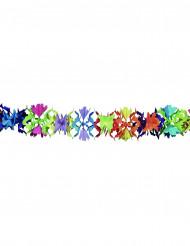 Guirnalda de papel multicolor flores