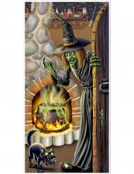 Decoración para puerta casa de bruja