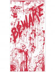 Decoración para puerta sangrienta BEWARE Halloween